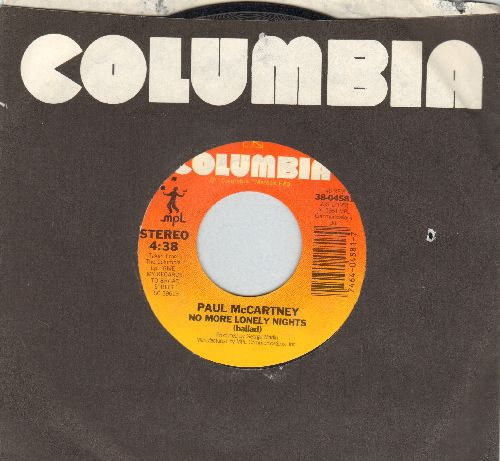 McCartney, Paul - No More Lonely Nights (ballad & playout version) - EX8/ - 45 rpm Records