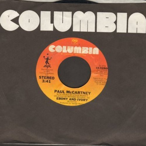 McCartney, Paul & Stevie Wonder - Ebony & Ivory/Rainclouds - NM9/ - 45 rpm Records
