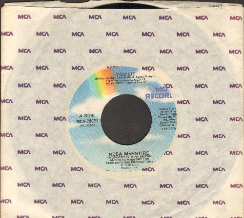 McEntire, Reba - You Lie/That's All She Wrote (with MCA company sleeve) - EX8/ - 45 rpm Records