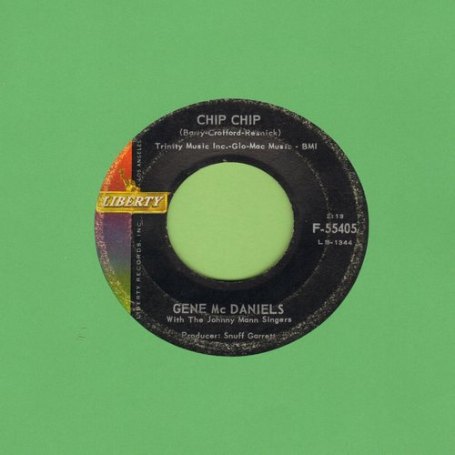 McDaniels, Gene - Chip Chip/Another Tear Falls  - VG7/ - 45 rpm Records