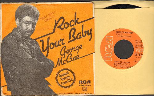 McCrae, George - Rock Your Baby (Parts 1&2) (#1 selling 45 of the entire decade of the 1970s!) (German Pressing with picture sleeve, wol, wos) - EX8/VG7 - 45 rpm Records