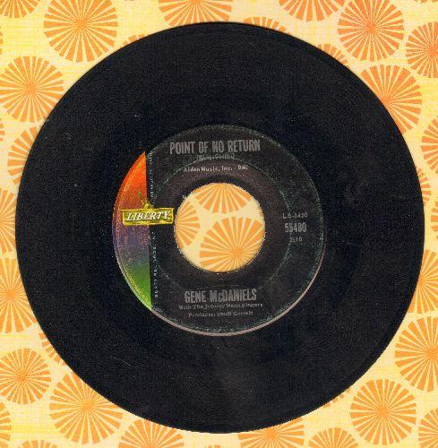 McDaniels, Gene - Point Of No Return/Warmer Than A Whisper  - VG7/ - 45 rpm Records