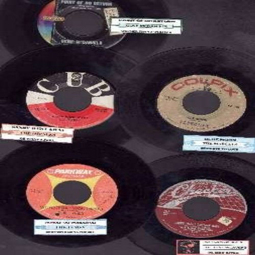 Impalas, Marcels, Gene McDaniels, Tune Weavers, Tymes - Doo-Wop/R&B 5-Pack of Vintage 45rpm records, all with juke box labels and in very good or better condition. Hit titles include: Sandy Went Away, Blue Moon, Point Of No Return, Happy Happy Birthday Ba