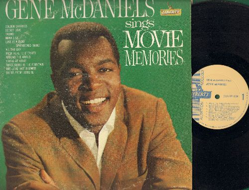 McDaniels, Gene - Sings Movie Memories: Tammy, Secret Love, Mona Lisa, The Long Hot Summer (vinyl MONO LP record, DJ advance pressing) - EX8/VG6 - LP Records