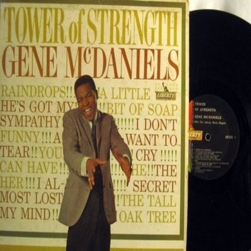 McDaniels, Gene - Tower Of Strenght: Funny, Raindrops, A Tear, I Don't Want To Cry, (There Was A) Tall Oak Tree, He, A Little Bit Of Soap (vinyl MONO LP record, minor wol) - VG7/VG6 - LP Records