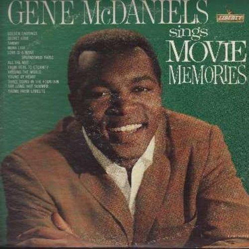 McDaniels, Gene - Movie Memories: Secret Love, Tammy, Mona Lisa, Love Is A Many-Splendored Thing, Three Coins In A Fountain, The Long Hot Summer (vinyl MONO LP record, DJ advance copy) - EX8/VG7 - LP Records