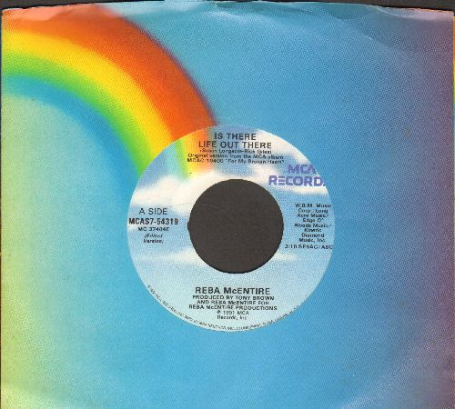 McEntire, Reba - Is There Life Out There/Buying Her Roses (with MCA company sleeve) - NM9/ - 45 rpm Records