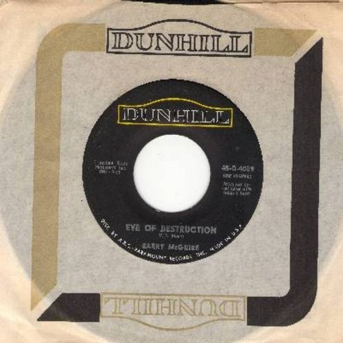McGuire, Barry - Eve Of Destruction/What Exactly's The Matter With Me (with vintage Dunhill company sleeve) - NM9/ - 45 rpm Records