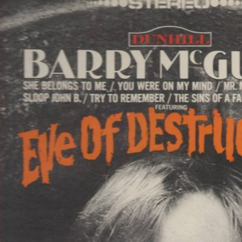 McGuire, Barry - Eve Of Destruction: Try To Remember, She Belongs To Me, Baby Blue, You Were On My Mind, Why Not Stop & Dig It While You Can (vinyl STEREO LP record) - EX8/VG7 - LP Records