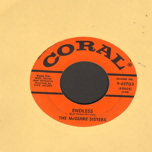 McGuire Sisters - Endless (FANTASTIC GIRL-SOUND HARMONY!)/Ev'ry Day Of My Life  - VG7/ - 45 rpm Records