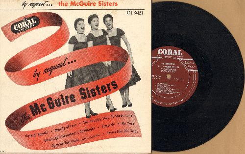 McGuire Sisters - By Request: Sincerely/Goodnight Sweetheart Goodnight/Open Up Your Heart And Let The Sunshine In + 5 (10 inch vinyl MONO LP record with cover) - EX8/VG7 - LP Records