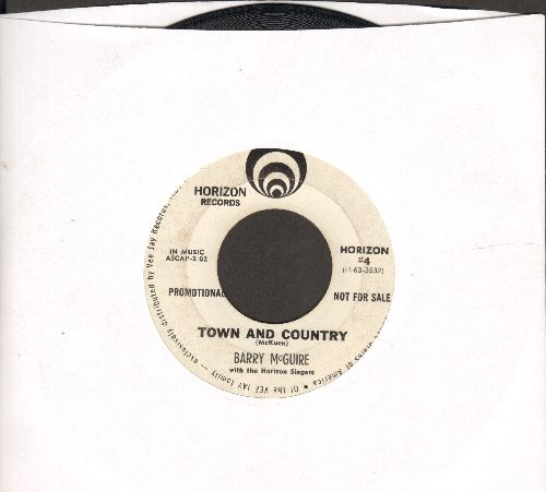 McGuire, Barry - Town And Country/One By One (DJ advance pressing) - VG7/ - 45 rpm Records