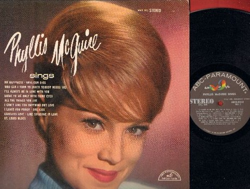 McGuire, Phyllis - Phyllis McGuire sings: My Happiness, I Can't Give You Anything But Love, I Love You Porgy, One Kiss, St. Louis Blues (vinyl STEREO LP record) - NM9/EX8 - LP Records