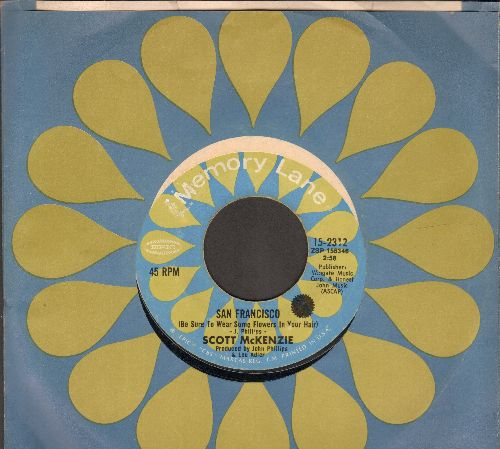 McKenzie, Scott - San Francisco/Like An Old Time Movie (double-hit re-issue with company sleeve) - NM9/ - 45 rpm Records