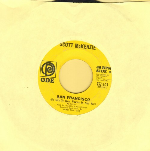 McKenzie, Scott - San Francisco (Be Sure To Wear Flowers In Your Hair)/What's The Difference  - VG7/ - 45 rpm Records