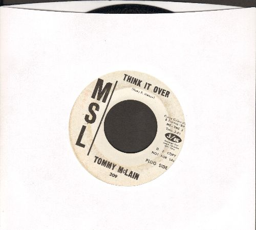 McLain, Tommy - Think It Over/I Can't Take It No More (DJ advance pressing) - VG6/ - 45 rpm Records