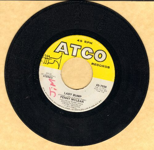 McLean, Penny - Lady Bump/The Lady Bumps On (Most successful title of various novelty records capitalizing on the 70s -Bump- Dance Craze)(minor wol) - EX8/ - 45 rpm Records