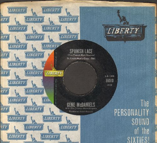 McDaniels, Gene - Spanish Lace/Somebody's Waiting (with vintage Liberty company sleeve) - NM9/ - 45 rpm Records