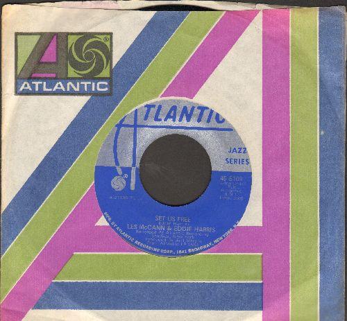 McCann, Les & Eddie Harris - Universal Prisoner/Set Us Free (DJ copy with original company sleeve) - NM9/ - 45 rpm Records