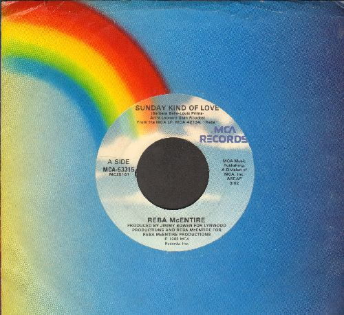 McEntire, Reba - Sunday Kind Of Love/So So So Long (with MCA company sleeve) - VG7/ - 45 rpm Records