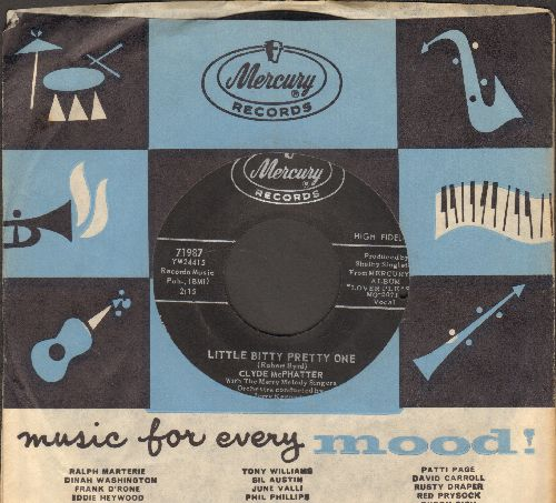 McPhatter, Clyde - Little Bitty Pretty One/Next To Me  (with vintage Mercury company sleeve) (bb) - VG7/ - 45 rpm Records