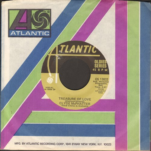 McPhatter, Clyde - A Lover's Question/Treasure Of Love (double-hit re-issue with Atlantic company sleeve) - EX8/ - 45 rpm Records