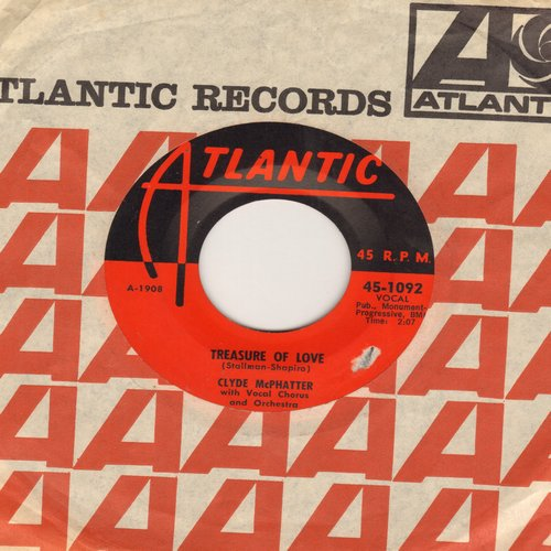 McPhatter, Clyde - Treasure Of Love/When You're Sincere (with Atlantic company sleeve) - EX8/ - 45 rpm Records