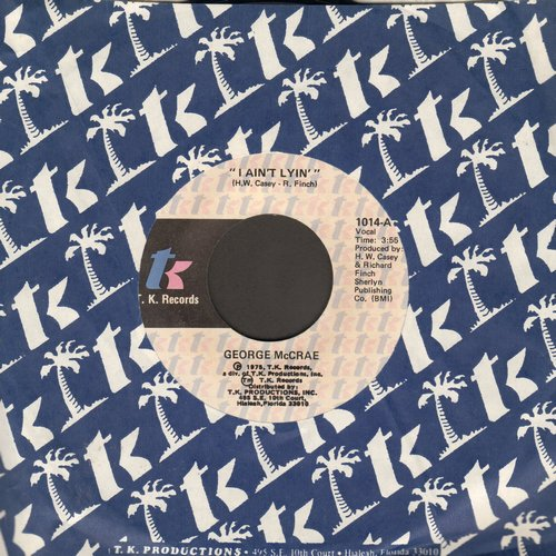 McCrae, George - I Ain't Lyin'/You Got To Know (with T.K. company sleeve) - M10/ - 45 rpm Records