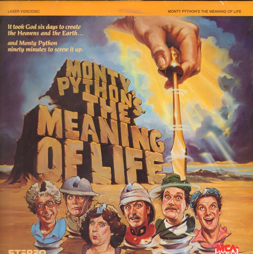 Monty Python - Monty Python's Meaning Of Life - LASER DISC versio of the Comedy Classic (This is a LASER DISC, not any other kind of media!) - EX8/EX8 - Laser Discs