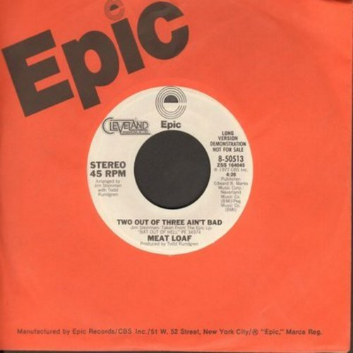 Meat Loaf - Two Out Of Three Ain't Bad (DJ advance copy featuring long and short version of hit) - NM9/ - 45 rpm Records