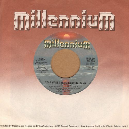 Meco - Star Wars Theme/Funk (MINT conditiotn with RARE Millennium company sleeve) - M10/ - 45 rpm Records