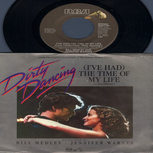 Medley, Bill & Jennifer Warnes - I've Had The Time Of My Life (Oscar Winning Song from film -Dirty Dancing-)/Love Is Strange (by Mickey & Sylvia on flip-side) (with picture sleeve) - NM9/EX8 - 45 rpm Records