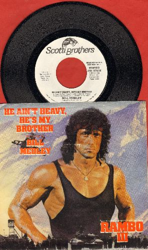 Medley, Bill - He Ain't Heavy, He's My Brother (double-A-sided DJ advance pressing with picture sleeve) - NM9/EX8 - 45 rpm Records