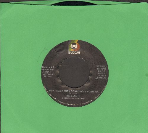 Melanie - What Have They Done To My Song/Peace Will Come (double-hit re-issue) - NM9/ - 45 rpm Records
