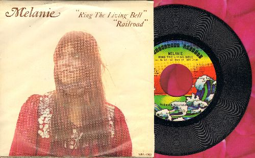Melanie - Ring The Living Bell/Railroad (with picture sleeve) - NM9/EX8 - 45 rpm Records