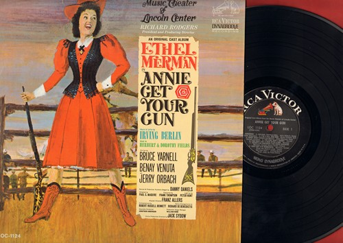 Merman, Ethel - Annie Get Your Gun - Music Theater of Lincoln Center Production of Irving Berlin Broadway Hit. (vinyl MONO LP record) - EX8/EX8 - LP Records