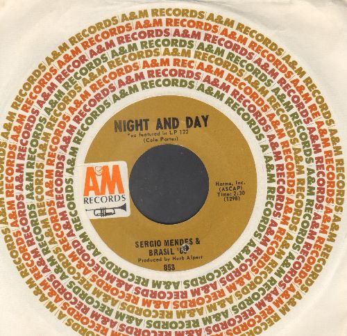 Mendes, Sergio & Brazil '66 - Night And Day/Cinnamon And Clove (with A&M company sleeve, bb) - NM9/ - 45 rpm Records