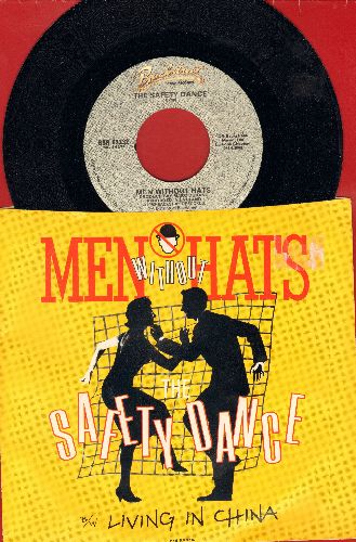 Men Without Hats - Safety Dance (You Can Dance If You Want To)/Living In Chine (with picture sleeve) - NM9/EX8 - 45 rpm Records