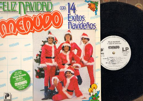 Menudo - Feliz Navidad - 14 Exitos Navidenos (vinyl LP record, US Pressing, sung in Spanish) - NM9/EX8 - LP Records