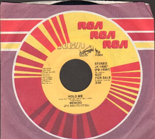 Menudo - Hold Me (double-A-sided DJ advance pressing featuring a pre-teen Ricky Martin!)(with RCA company sleeve) - NM9/ - 45 rpm Records