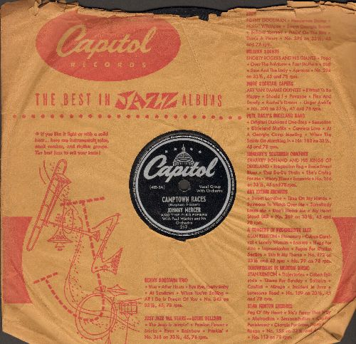 Mercer, Johnny - Camptown Races/Surprise Party (10 inch 78 rpm record with Capitol company sleeve) - VG6/ - 78 rpm