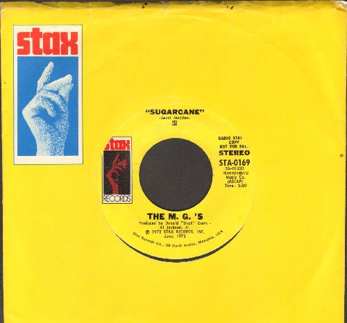 M. G.'s - Sugarcane (double-A-sided DJ advance pressing featuring MONO and STEREO version with Stax company sleeve) - NM9/ - 45 rpm Records