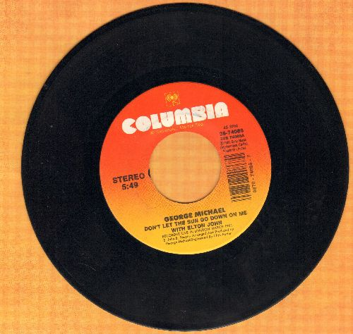 Michael, George - Don't Let The Sun Go Down On Me (duet with Elton John)/I Believe (When I Fall In Love It Will Be Forever) - NM9/ - 45 rpm Records