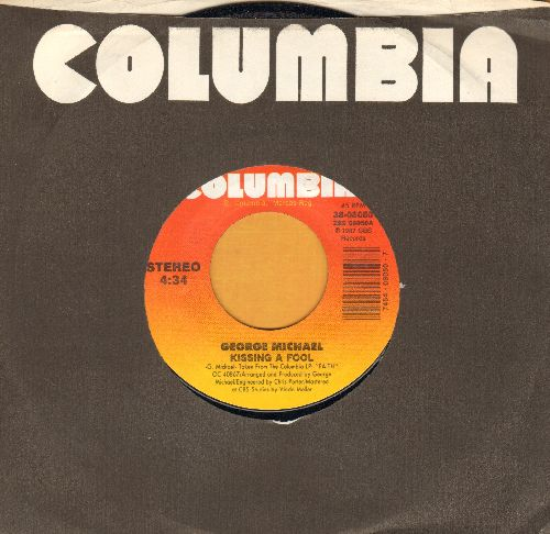 Michael, George - Kissing A Fool/Kissing A Fool (Instrumental) (with Columbia company sleeve) - NM9/ - 45 rpm Records
