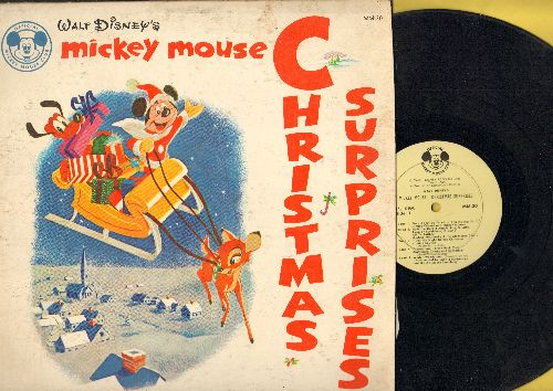 Disney - Walt Disney's Mickey Mouse Christmas Surprises: Winter Wonderland, From All Of Us To All Of You, Jingle Bones, Kris Kringle (vinyl MONO LP record) - VG7/VG6 - LP Records