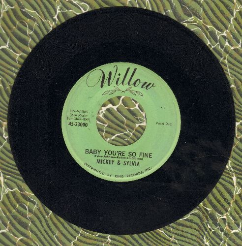 Mickey & Sylvia - Baby You're So Fine/Lovedrops - EX8/ - 45 rpm Records