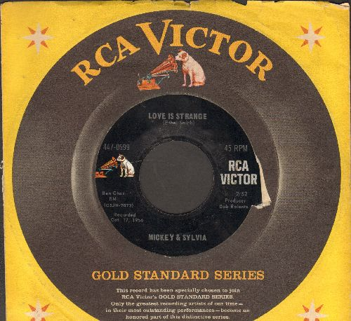 Mickey & Sylvia - Love Is Strange/Love Is The Only Thing (double-hit 1960s re-issue with company sleeve) - EX8/ - 45 rpm Records