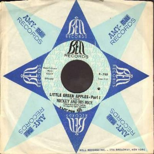 Mickey & His Mice - Little Green Apples (Parts 1 + 2) (with vintage Bell company sleeve) (bb) - NM9/ - 45 rpm Records
