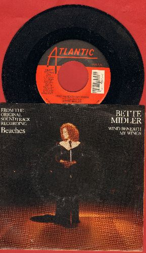 Midler, Bette - Wind Beneath My Wings/Oh Industry (both songs from film -Beaches, with RARE picture sleeve!) - NM9/EX8 - 45 rpm Records