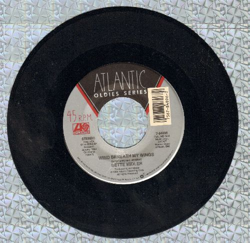 Midler, Bette - Wind Benath My Wings/Under The Boardwalk (double-hit re-issue) - NM9/ - 45 rpm Records